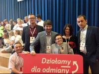 Na zdjęciu, od lewej: Piotr Niedziałkowski (UMWKP), Łukasz Broniszewski (KPFOP), Janusz Wiśniewski (KPFOP), Ewa Głodowska-Morawska, Emilia Osiecka (Fundacja Polska Wieś 2000), Jan M. Grabowski (KPFOP)