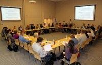 Zdjęcie ze spotkania, na którym organizacje wypracowywały postulaty do programu - 28 sierpnia 2014roku