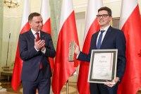 Prezydent RP Andrzej Duda i prezes Fundacji Court Watch Bartosz Pilitowski (fot. prezydent.pl)
